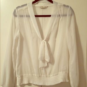 White sheer blouse. Old Navy